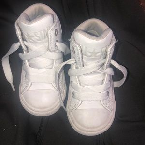 White high top converse for toddler